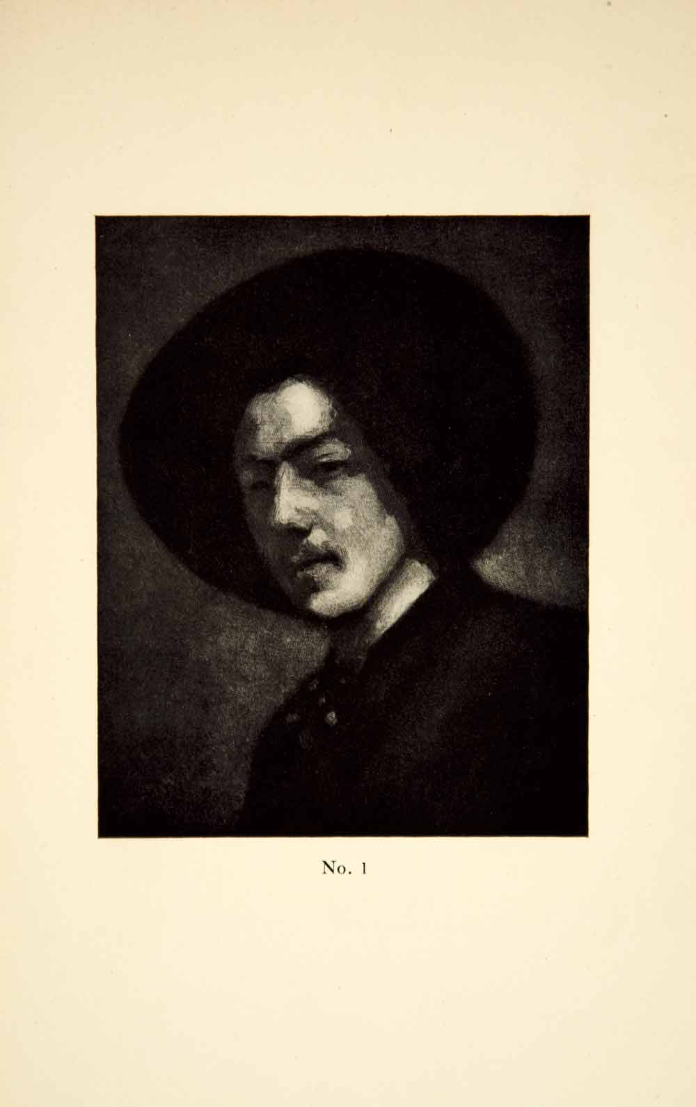 1913 Print James Abbott McNeill Whistler Art Self Portrait Hat Gilded Age XALA3