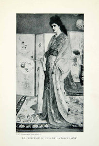 1904 Print James McNeill Whistler Princesse Pays Porcelaine Asian Princess XALA5
