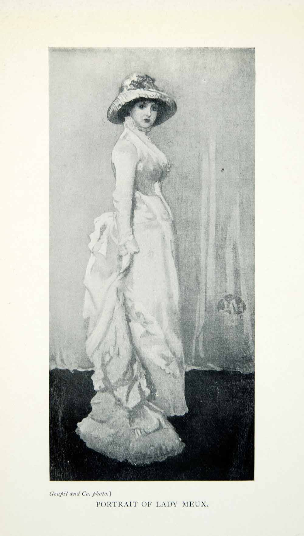 1904 Print James McNeill Whistler Portrait Lady Meux Dress Fashionable XALA5