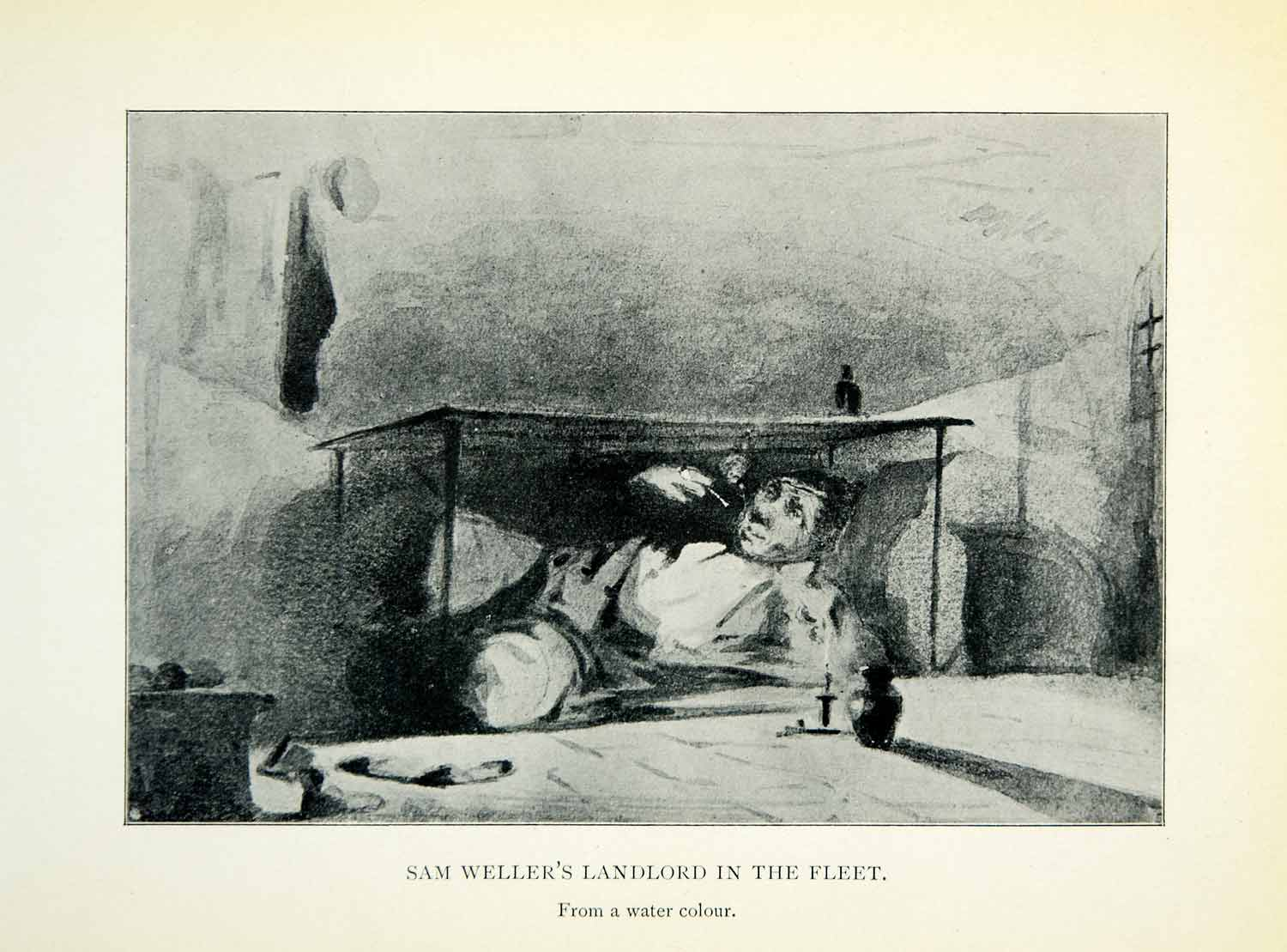 1904 Print Sam Weller's Landlord Fleet James McNeill Whistler Table XALA5