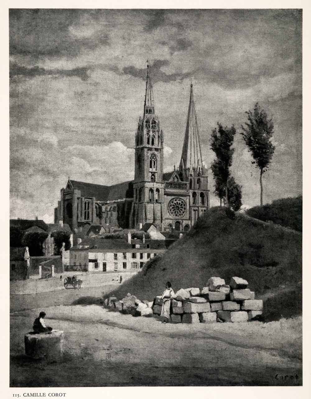 1951 Photogravure Our Lady Chartres Cathedral Rite Catholic France Gothic XAN4