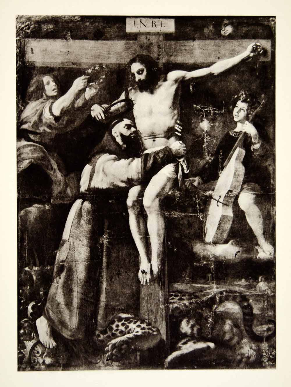 1937 Photogravure Francisco Ribalta Baroque Art St Francis Jesus Christ XANA2