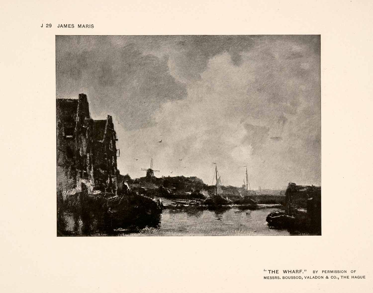 1907 Halftone Print Wharf Ship Sail Ocean Coast Harbor Port Netherlands XAP7