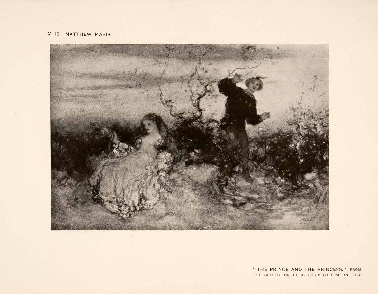1907 Halftone Print Children Prince Princess Boy Girl Dutch Play Costume XAP7