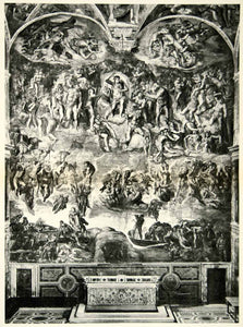 1963 Photogravure Sistine Chapel Michelangelo Last Judgment Fresco Hell XAPA3
