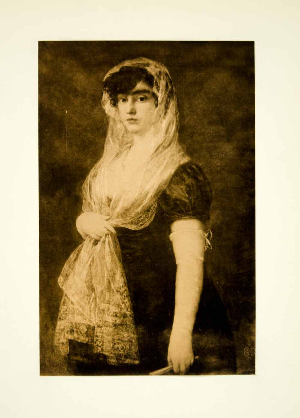1922 Photogravure Francisco Goya Art Portrait Booksellers Wife Romanticism XAPA8