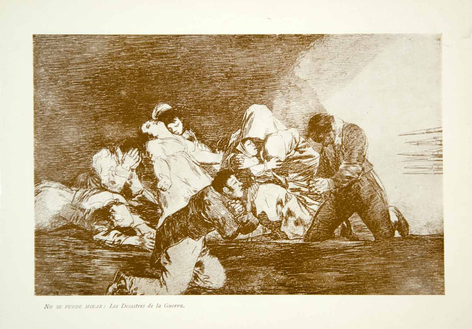 1901 Color Print Francisco Goya Art No Se Puede Mirar One Cant Look XAQA4