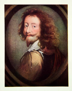 1908 Color Print Anthony Van Dyck Art Self Portrait Baroque Flemish XAQA7