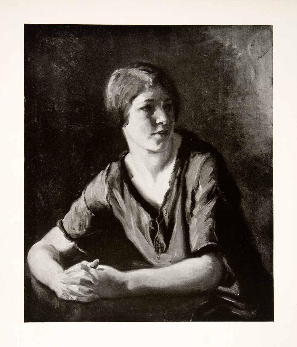1927 Print Italian Girl Albert Sterner American Painter Etcher Lithographer XAS4