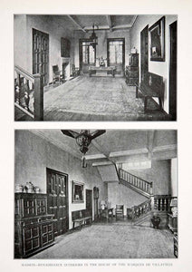 1925 Print Renaissance Interior House Marques Villavieja Madrid Spain XDC5