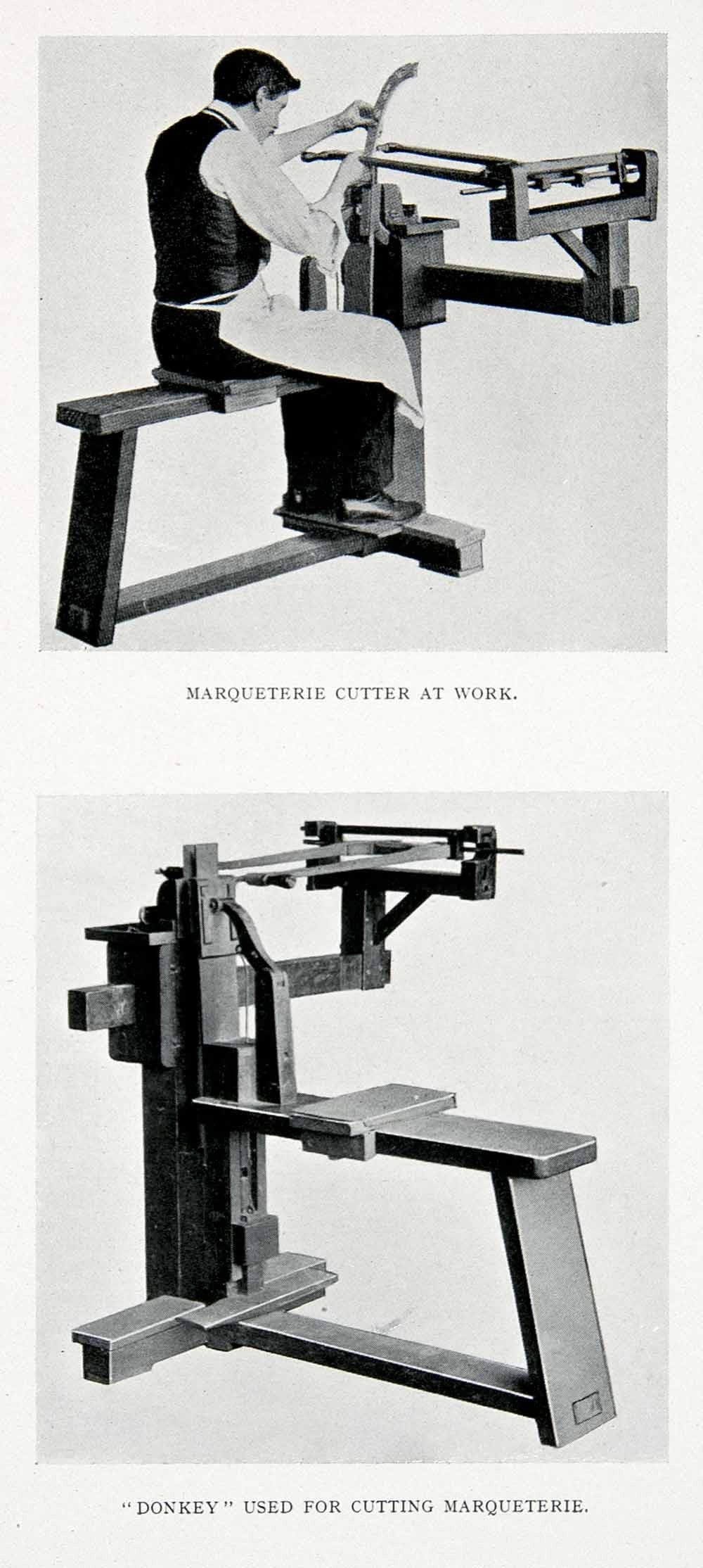 1927 Print Marquetry Donkey Saw Cutter Marqueterie Process Tool Tiling XDC6