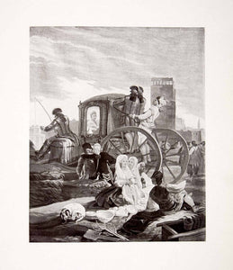 1917 Print Earthenware Stall Carriage Goya Royal Tapestry Factory Madrid XDC8