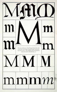 1942 Print Letter M Font Graphic Design Alphabet Typeface Frederic Goudy XDE8