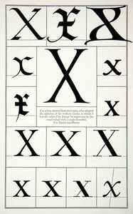 1942 Print Letter X Latin Capital Graphic Design Typeface Frederic Goudy XDE8