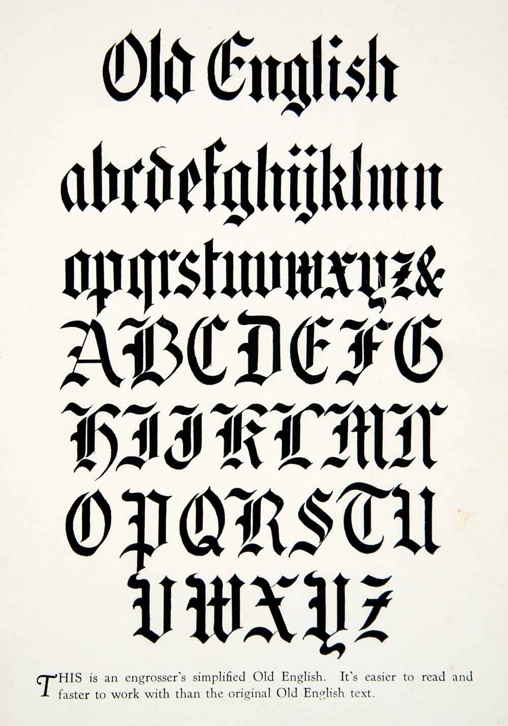 1928 print old english typography graphic design style decorative 1928 print old english typography graphic design style decorative alphabet xdg4 altavistaventures