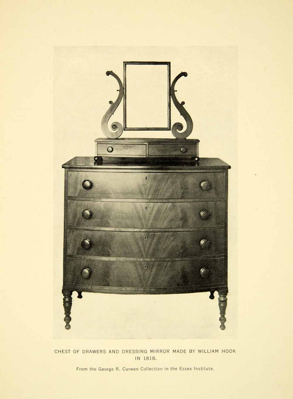 1934 Print Chest Drawers Furniture William Hook Samuel McIntyre Dresser XDG7