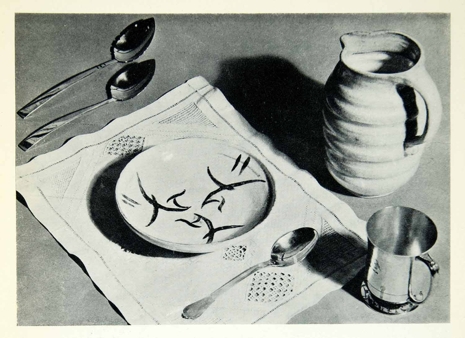 1934 Print Modern Adaptation Peasant Craft Pottery Tableware Interior XDG9