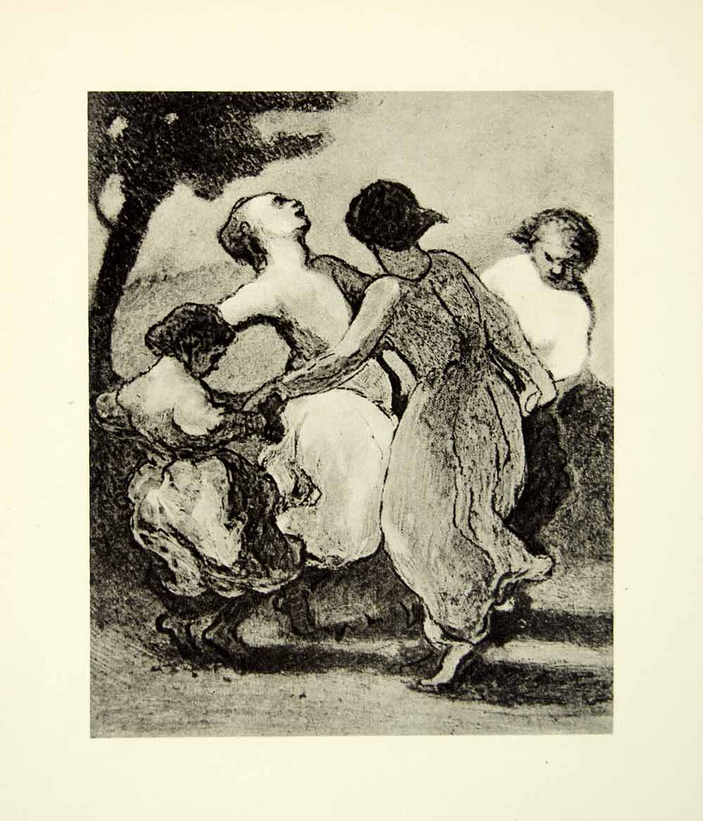 1938 Rotogravure Kinderreigen Honore Daumier Dancing Circle Playing XDI8