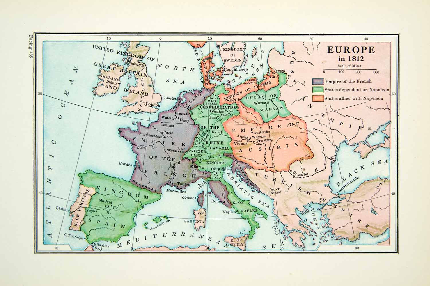 Print Map Europe Empire Austria Rhine Russian Turkish Spain - Portugal map to print