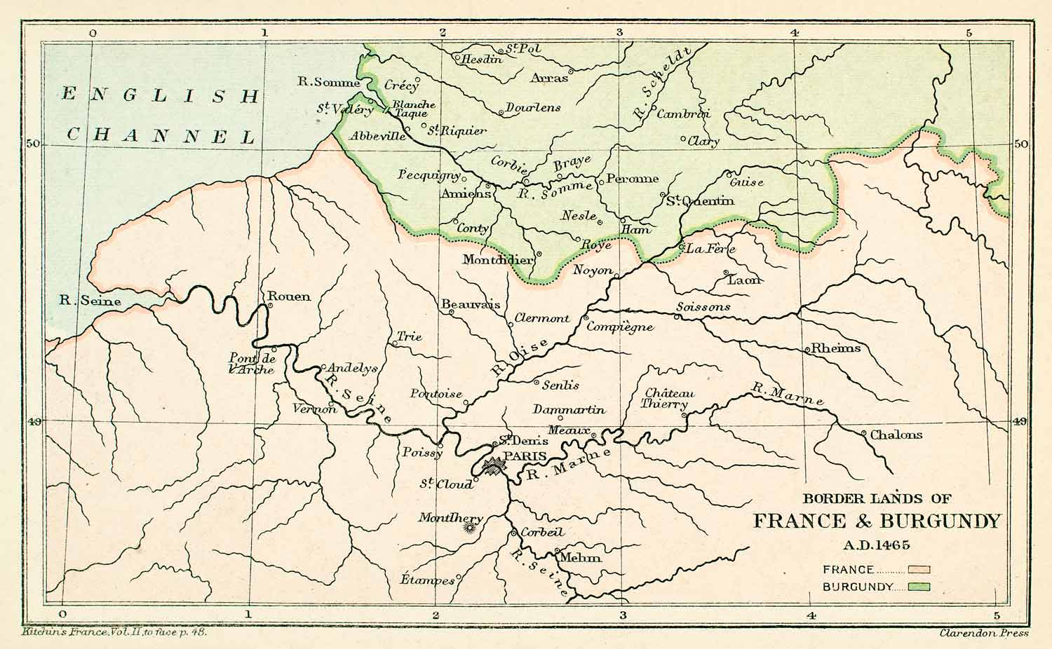 River Map Of France.1896 Lithograph Map France Burgundy English Channel River Seine Marne Paris Xeb2