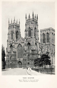 1928 Print York Minster Gothic England Anglo Saxon Period Missionary XEC7