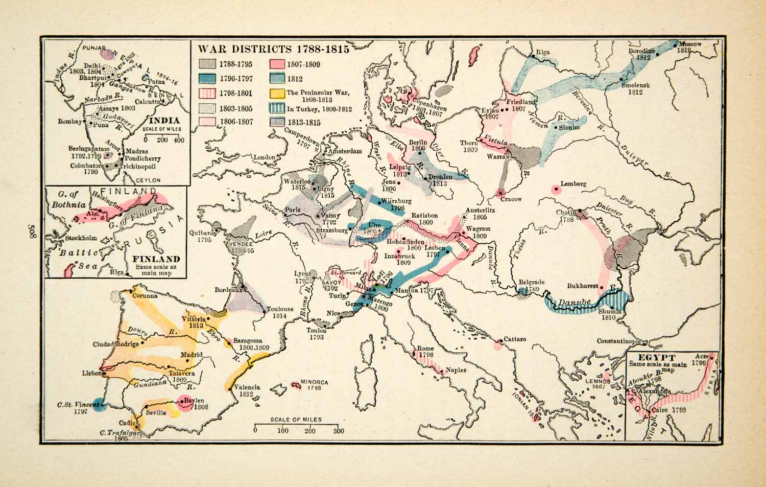 Districts Of France Map.1918 Print Map Europe War Districts Locations Germany France Spain Xeca1