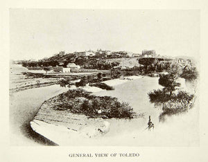 1907 Print Cityscape View Toledo Spain River Tagus World Heritage Site XECA4
