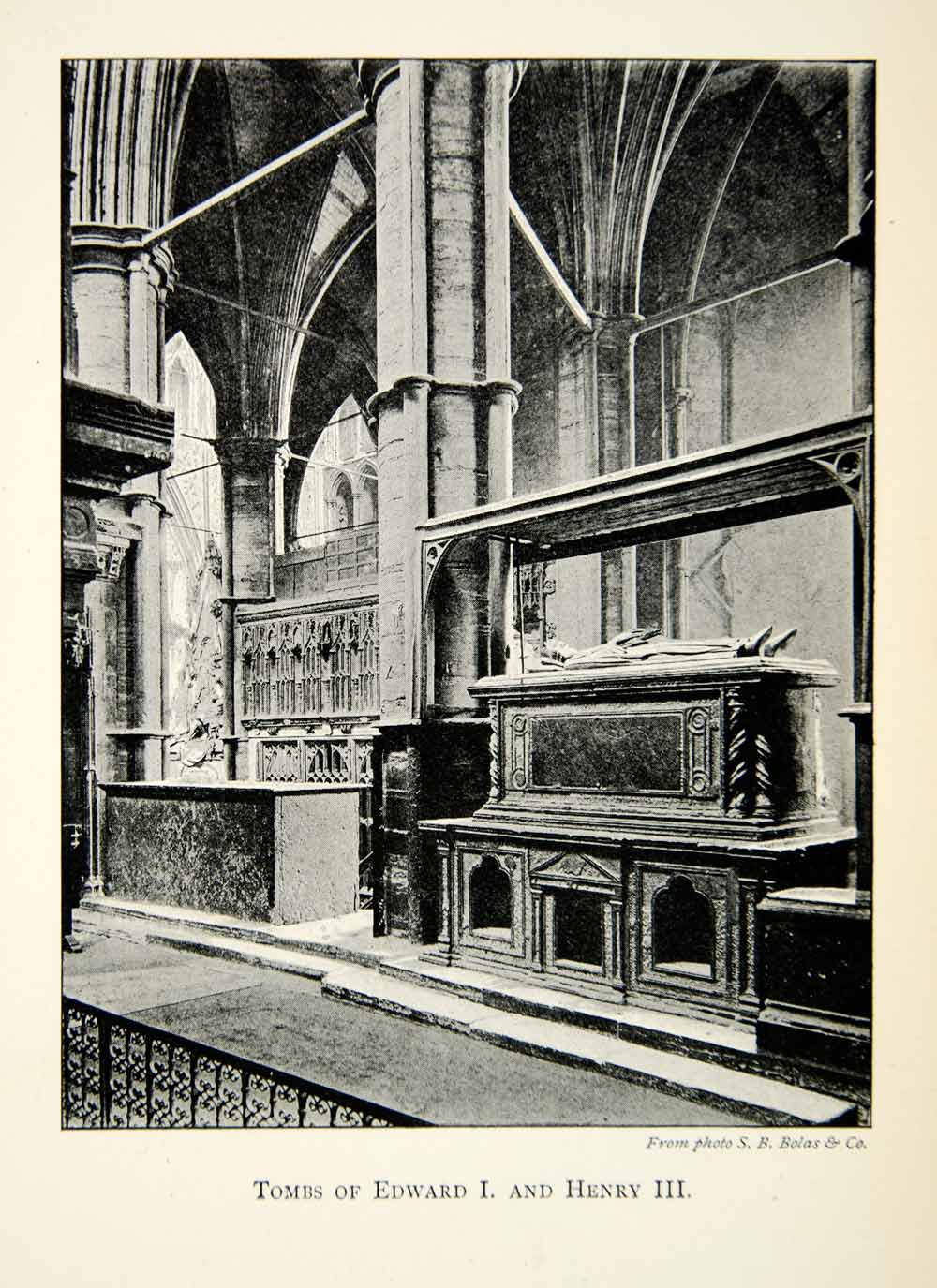 1902 Print Edward Henry Tomb King Westminster Abbey Church London Gothic XEFA1