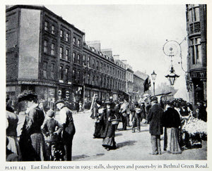 1951 Print East End Bethnal Green Road London England Shoppers Victorian XEGA2 - Period Paper