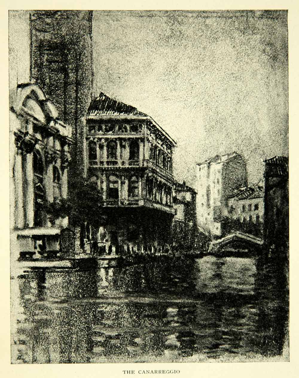 1905 Print Cannaregio District Venice Canal Joseph Pennell Art XEJA6