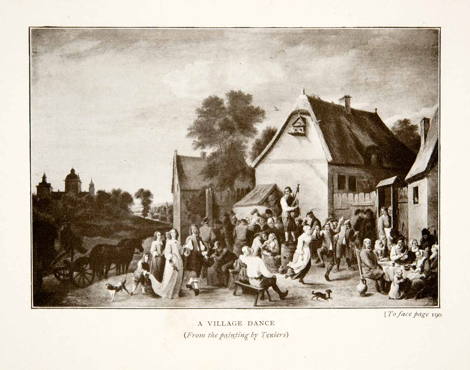 1914 Print A Village Dance Flemish Kermess David Teniers Younger Music XEL2