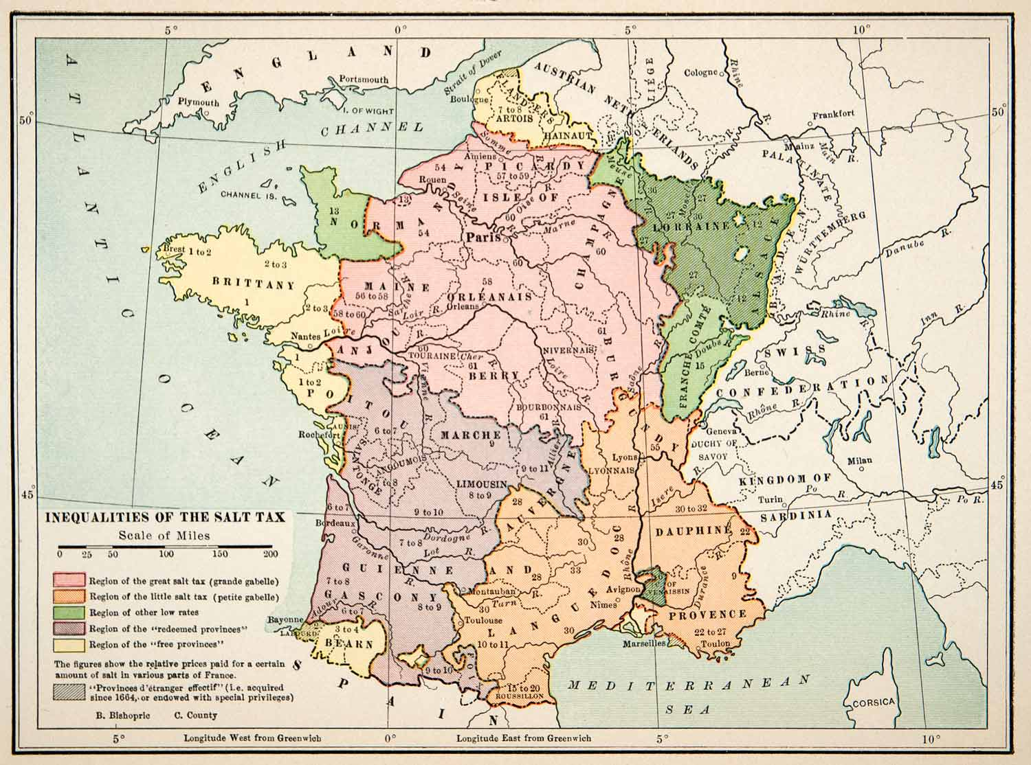 image regarding Printable Map of Western Europe identified as 1914 Print Map Western Europe Salt Tax Financial system Place Province Charges XEL6
