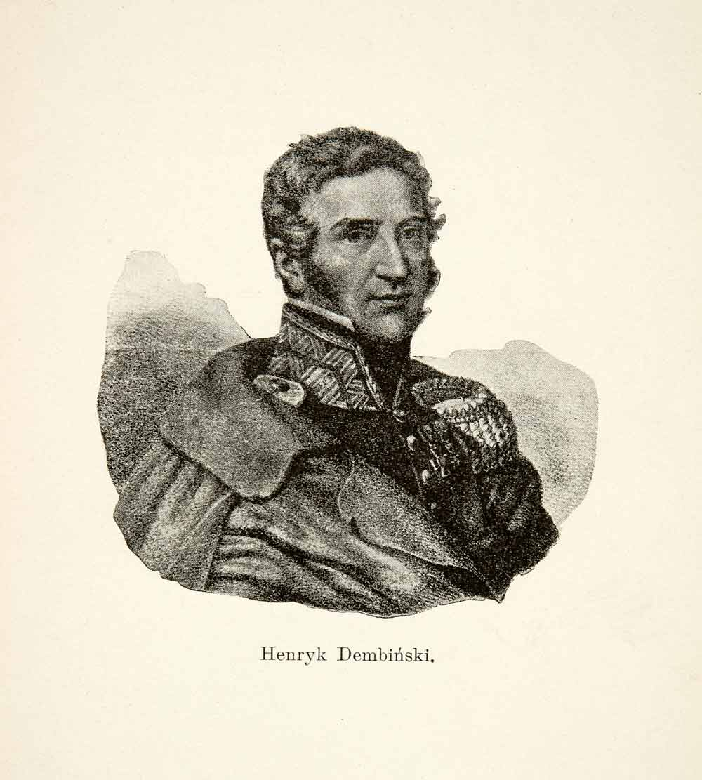 1906 Print General Henryk Dembinski Art Portrait Polish Army November XEL8