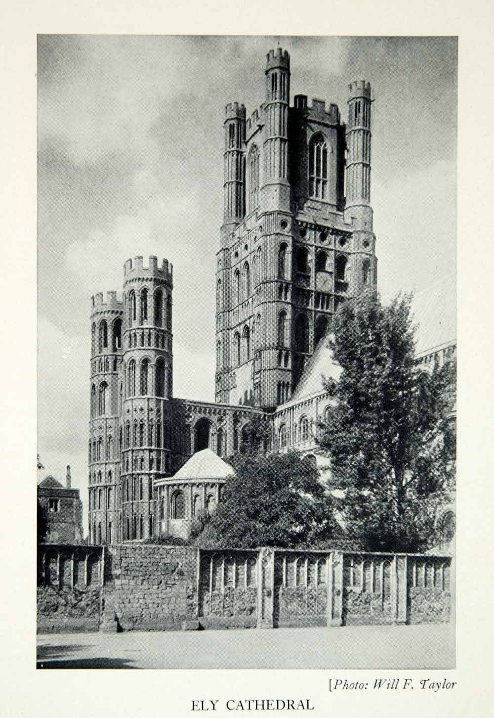 1938 Print Ely Cathedral Cambridgeshire Romanesque Gothic Architecture XELA6