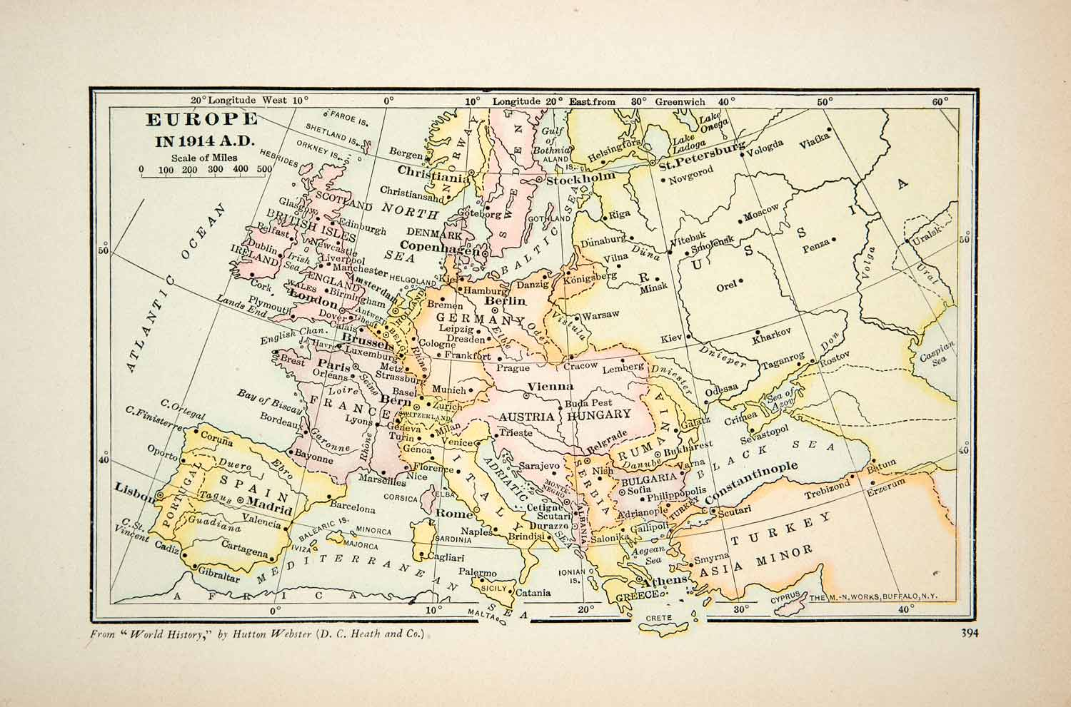 Print Map Europe Portugal Spain Turkey Russia Austria Hungary - Portugal map to print