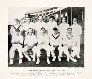 1928 Print English Cricketers Winners Test Match Strudwick Champan Rhodes XEQ3