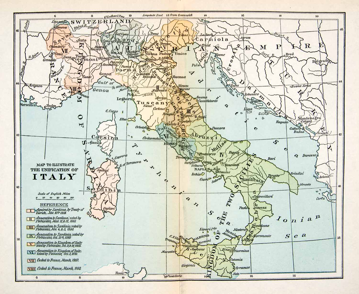 1923 print map italy france sardinia turkey austria ionian sea 1923 print map italy france sardinia turkey austria ionian sea adriatic xeq7 gumiabroncs Image collections
