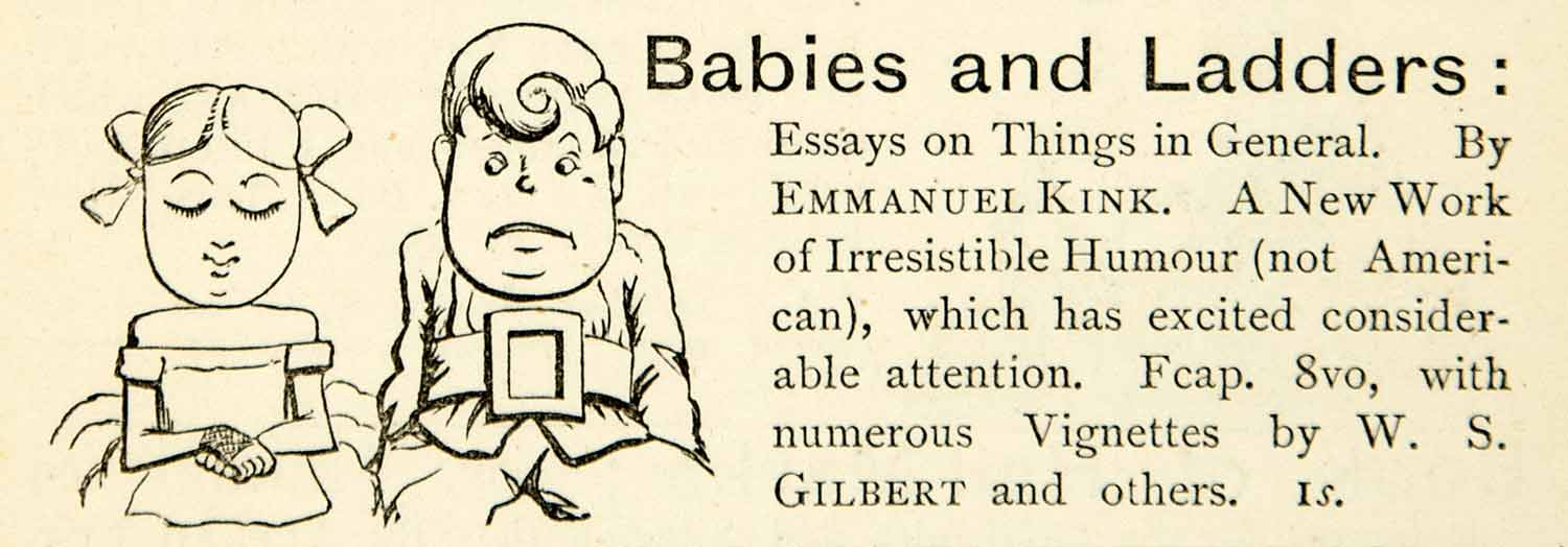 1872 Ad Babies Ladders Children Portrait Girl Boy Emmanuel Kink Clothing XEQA5