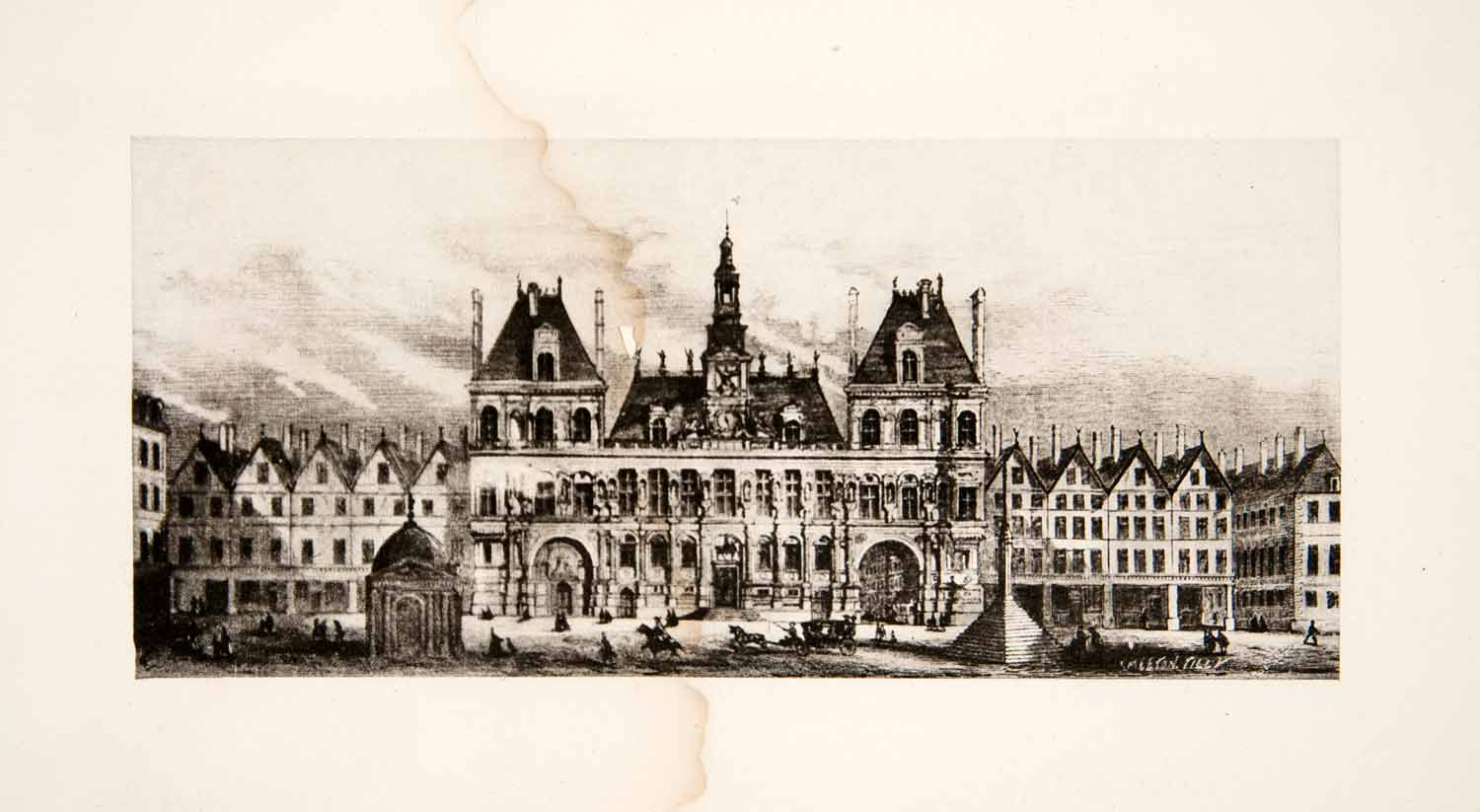 1898 Photogravure Hotel de Ville Paris France Historic Architecture XEY2
