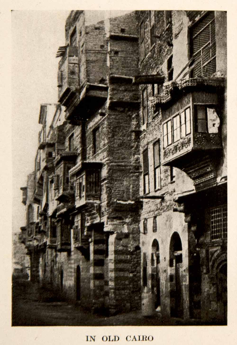 1920 Print Old Cairo Egypt Ancient Architecture Buildings Africa Biblical XEZ6