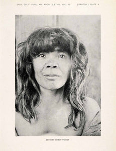 1922 Print Benguet Igorot Woman Bangs Fringe Tribe Face Anthropology XGAA4