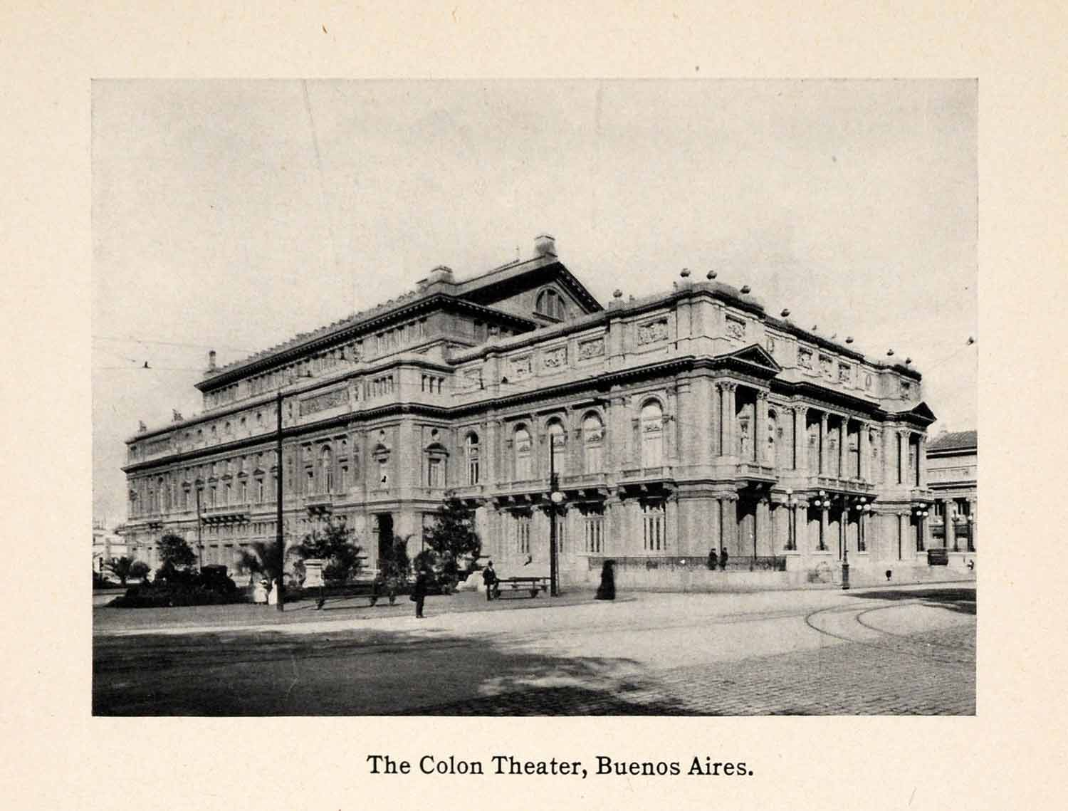 1913 Print Colon theater Buenos Aires Argentina South America Performance XGAA8