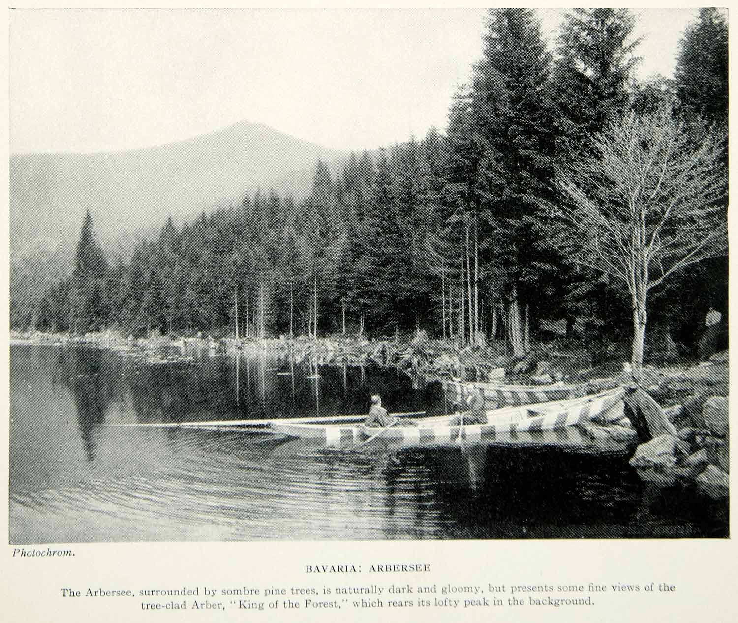 1925 Print Arbersee Lake Bayerischer Wald Forest Bavaria Germany Europe XGAG2