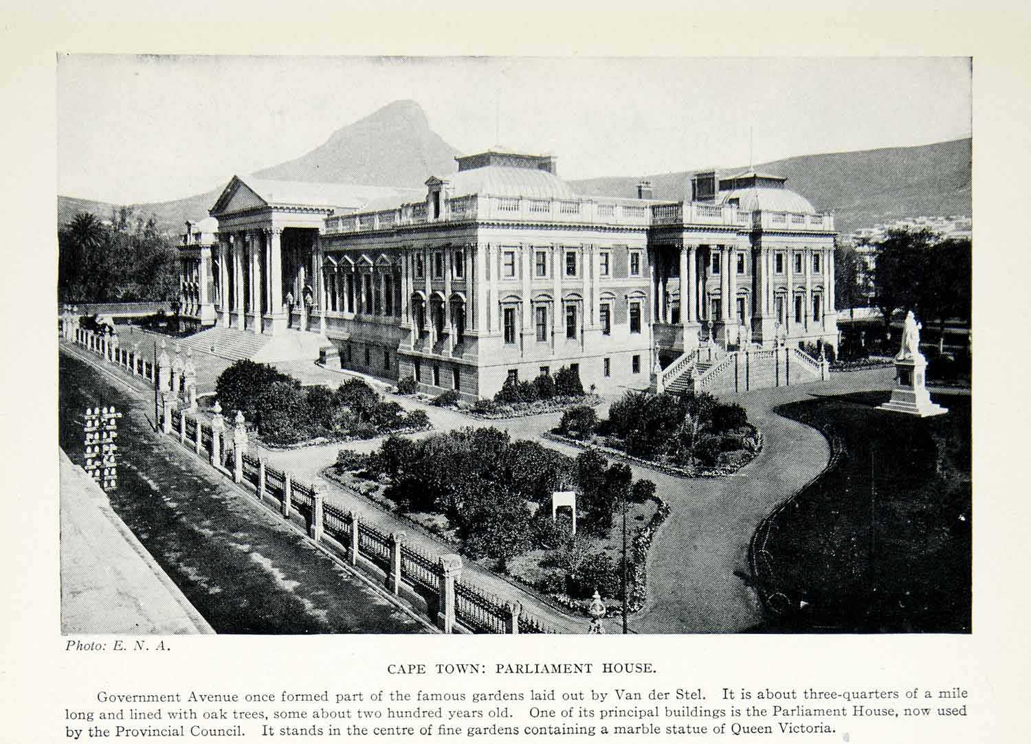 1925 Print Parliament House Cape Town South Africa Architecture Government XGAG2