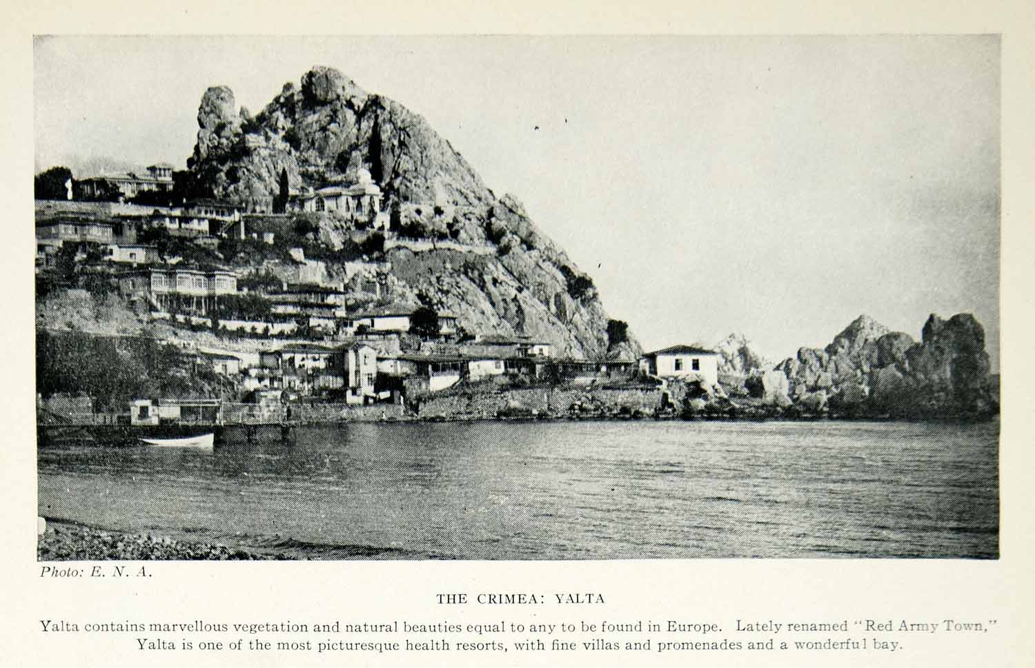 1925 Print Yalta Crimea Ukraine Black Sea Europe Cityscape Landscape Bay XGAG2