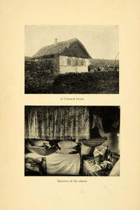 1907 Print Cossack House Interior Home Russia East Slavic Hut Asia XGB5