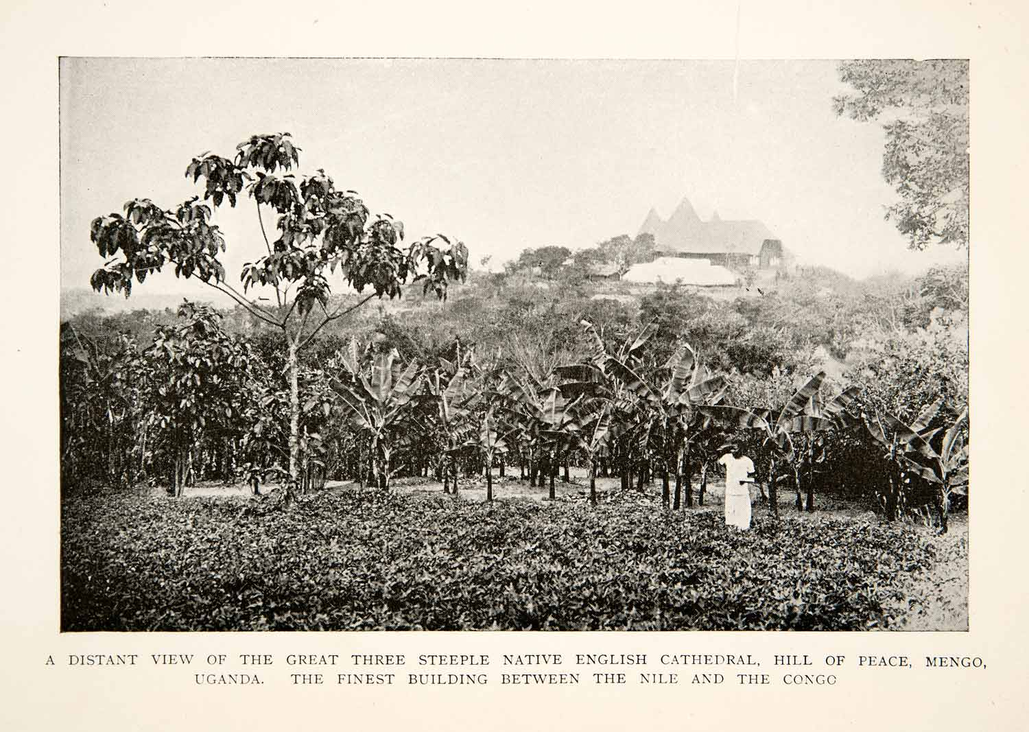 1905 Print Landscape Great Three Steeple Native English Cathedral Hill XGBC7