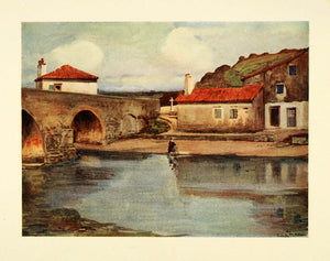 1921 Print Bridge Socoa France Fortress River Archaeology Ruins French XGC2