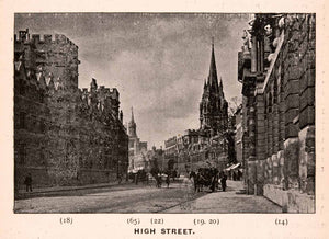 1900 Print High Street University Church Mary Virgin All Saints Oxford XGCA4