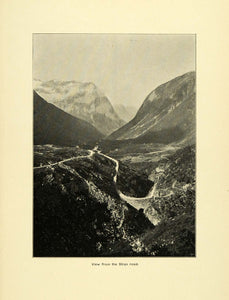 1900 Print Stryn Road Mountainous Landscape Norway Natural History Nature XGD1